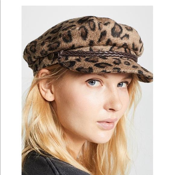 1f80b37497bee NWT Brixton Leopard Fiddler Hat